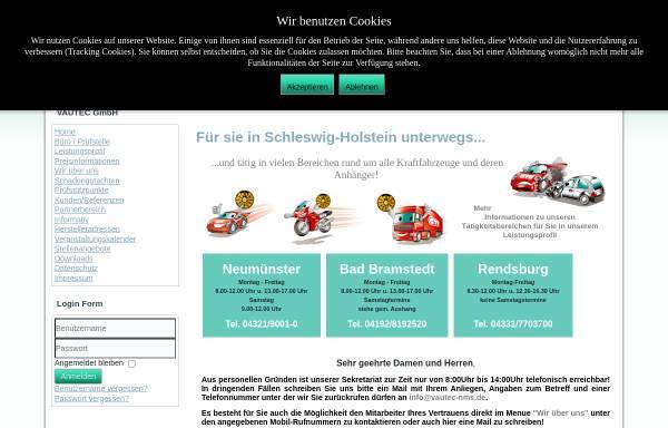 Vorschau von www.vautec-nms.de, VAUTEC - Verkehr Auto Technik GmbH