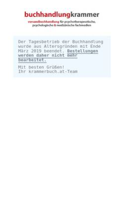 Vorschau der mobilen Webseite www.krammerbuch.at, Buchhandlung Kramer