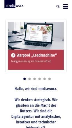 Vorschau der mobilen Webseite mediaworx.com, Mediaworx Berlin AG