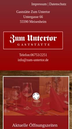 Vorschau der mobilen Webseite www.zum-untertor.de, Zum Untertor