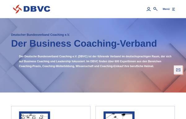 Vorschau von www.dbvc.de, DBVC - Deutscher Bundesverband Coaching e.V.