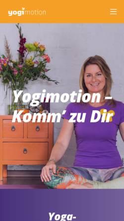 Vorschau der mobilen Webseite www.yogimotion.de, Yogimotion