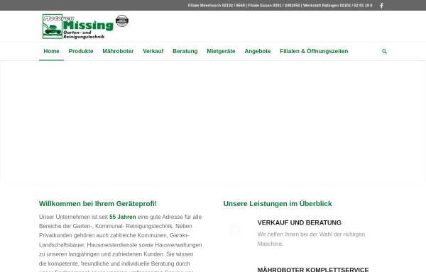 Vorschau von www.motoren-missing.de, Motoren Missing GmbH