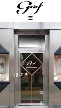 Vorschau der mobilen Webseite www.goldschmiedeatelier-graf.de, Rainer Graf, Goldschmiedeatelier