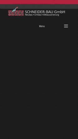 Vorschau der mobilen Webseite www.hannes-schneider-bau.de, Schneider-Bau GmbH