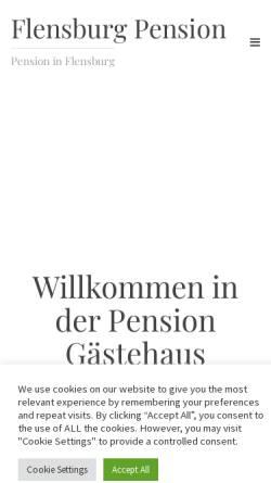 Vorschau der mobilen Webseite www.flensburg-pension.de, Olaf Picker
