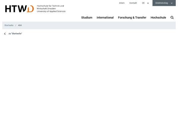 Vorschau von www.htw-dresden.de, Dresden, Hochschule für Technik und Wirtschaft