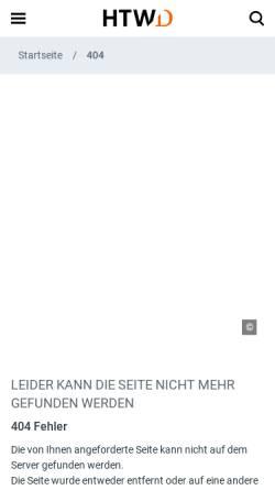 Vorschau der mobilen Webseite www.htw-dresden.de, Dresden, Hochschule für Technik und Wirtschaft