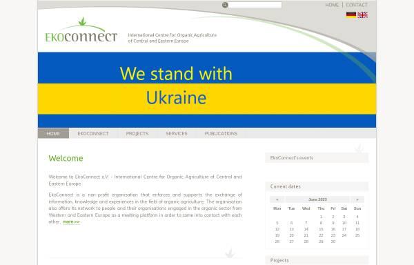 Vorschau von www.ekoconnect.org, EkoConnect - Internationales Zentrum für Ökologischen Landbau Mittel- und Osteuropas e. V.