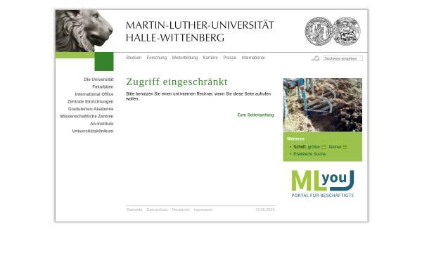Vorschau von www.landw.uni-halle.de, Professur für Allgemeinen Pflanzenbau/Ökologischen Landbau, Uni Halle