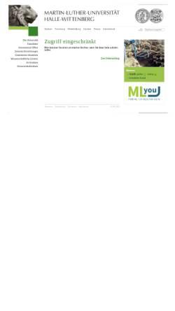 Vorschau der mobilen Webseite www.landw.uni-halle.de, Professur für Allgemeinen Pflanzenbau/Ökologischen Landbau, Uni Halle