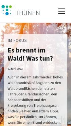 Vorschau der mobilen Webseite www.trenthorst.de, Förderverein des Instituts für Ökologischen Landbau, Trenthorst e.V. (FOELT e.V.)