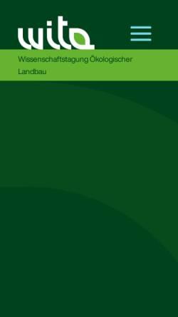 Vorschau der mobilen Webseite www.wissenschaftstagung.de, Wissenschaftstagung Ökologischer Landbau