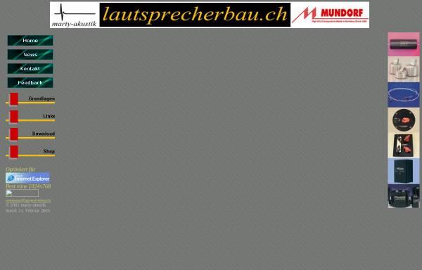 Vorschau von www.lautsprecherbau.ch, Lautsprecherbau, P.Marty