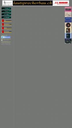 Vorschau der mobilen Webseite www.lautsprecherbau.ch, Lautsprecherbau, P.Marty
