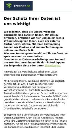 Vorschau der mobilen Webseite freenet-homepage.de, Bernds Multiple-Sklerose-Seiten