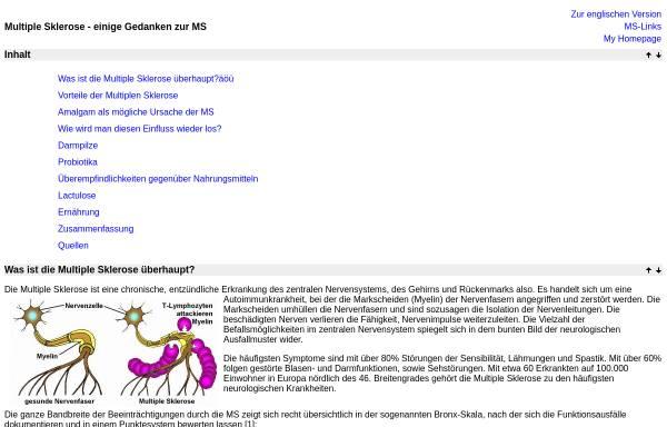 Vorschau von www.hendess.net, Gedanken zur MS