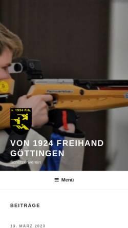 Vorschau der mobilen Webseite www.1924freihand.de, Schützenverein von 1924 Freihand Göttingen e.V.