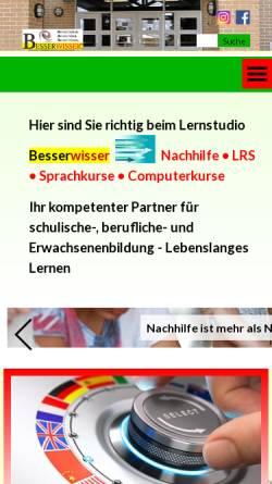 Vorschau der mobilen Webseite www.besserwisser-online.de, Besserwisser Lernstudio, Inh. Frank Bönsel