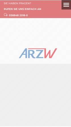 Vorschau der mobilen Webseite www.arzw.de, ARZ Wünsch GmbH