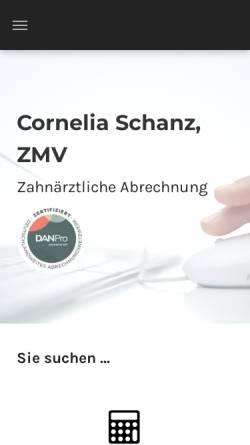 Vorschau der mobilen Webseite www.corneliaschanz.de, Cornelia Schanz