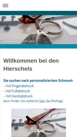 Vorschau der mobilen Webseite www.hierschel.info, Dias' Bügelservice