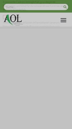 Vorschau der mobilen Webseite www.agrarpresse-aol.de, AOL - Arbeitsgemeinschaft Organisationsgebundene Landpresse