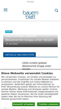 Vorschau der mobilen Webseite www.bauernblattsh.de, Bauernblatt Schleswig-Holstein und Hamburg