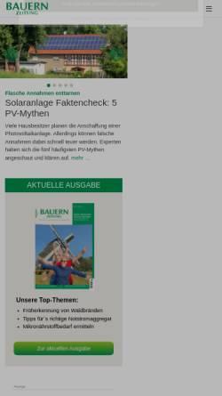 Vorschau der mobilen Webseite www.bauernzeitung.de, BauernZeitung Online