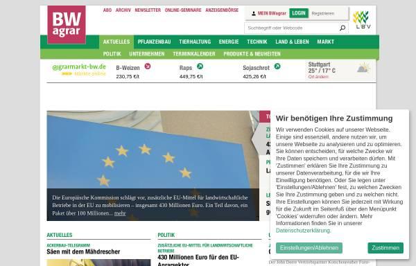 Vorschau von www.bwagrar.de, BW agrar: Landwirtschaftliches Wochenblatt und Schwäbischer Bauer