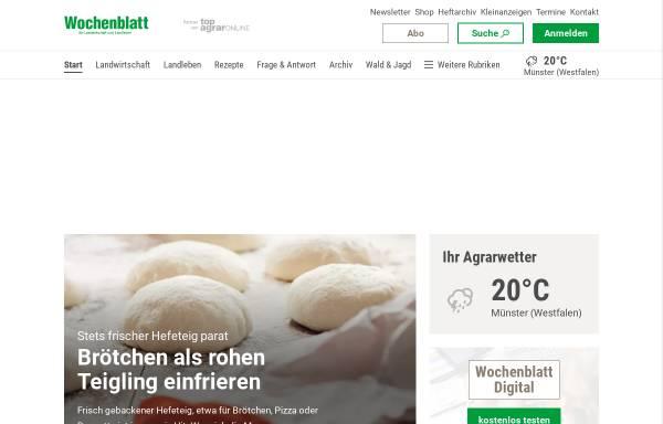 Vorschau von www.wochenblatt.com, Landwirtschaftliches Wochenblatt Westfalen-Lippe