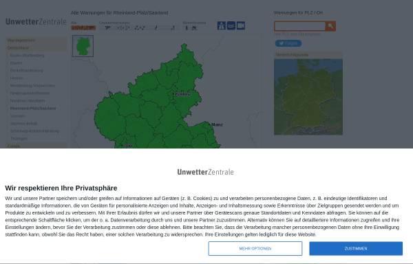 Vorschau von www.unwetterzentrale.de, Unwetter- und Sturmwarnungen