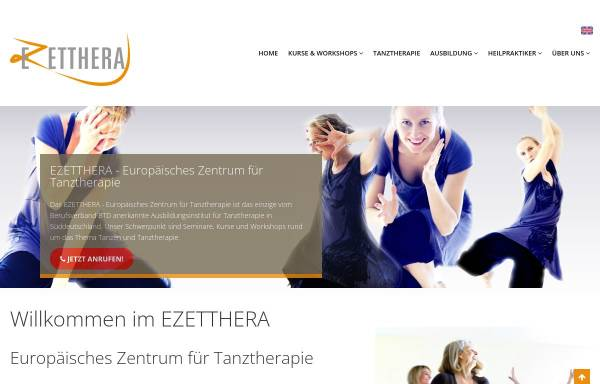 Vorschau von www.tanztherapie-zentrum.eu, Zentrum für Tanz und Therapie
