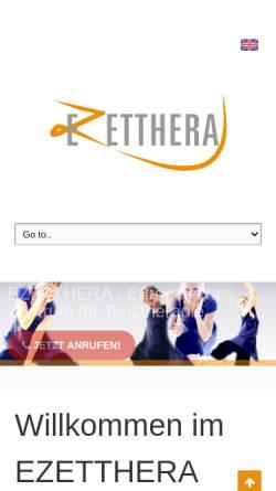 Vorschau der mobilen Webseite www.tanztherapie-zentrum.eu, Zentrum für Tanz und Therapie