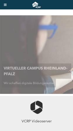 Vorschau der mobilen Webseite www.vcrp.de, Virtueller Campus Rheinland-Pfalz (VCRP)