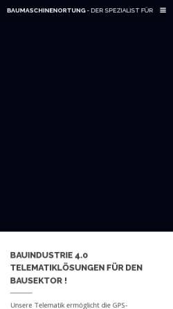 Vorschau der mobilen Webseite www.baumaschinenortung.de, Baumaschinenortung Christian Kompart