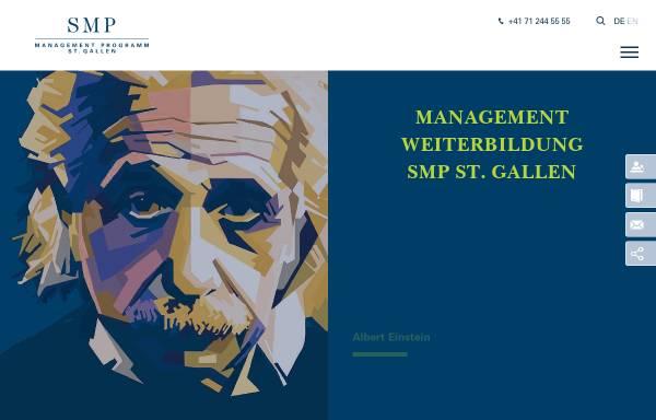 Vorschau von www.smp.ch, SMP Management Programm St.Gallen