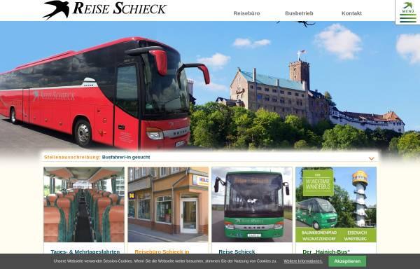 Vorschau von www.reise-schieck.de, Reisebüro Schieck