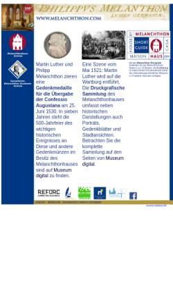 Vorschau der mobilen Webseite www.melanchthon.com, Bretten, Melanchthonhaus