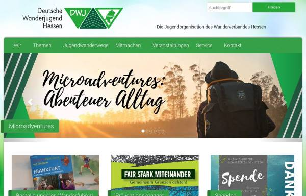 Vorschau von wanderjugend-hessen.de, Deutsche Wanderjugend Landesverband Hessen