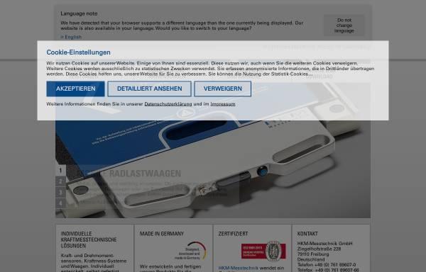 Vorschau von www.hkm-messtechnik.de, HKM-Messtechnik GmbH