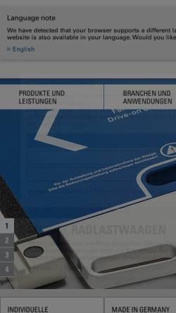 Vorschau der mobilen Webseite www.hkm-messtechnik.de, HKM-Messtechnik GmbH