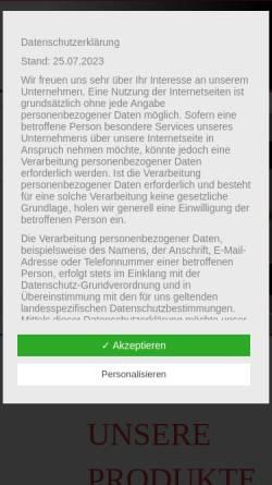 Vorschau der mobilen Webseite www.induk-gmbh.de, Induk GmbH
