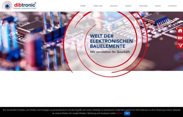 Vorschau von www.dibtronic.de, Dibtronic Computer Components GmbH