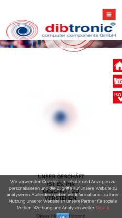 Vorschau der mobilen Webseite www.dibtronic.de, Dibtronic Computer Components GmbH