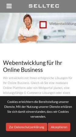 Vorschau der mobilen Webseite www.selltec.de, Selltec Communications GmbH
