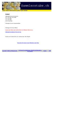 Vorschau der mobilen Webseite www.sammlerstube.ch, Sammlerstube, Philipp Eppler