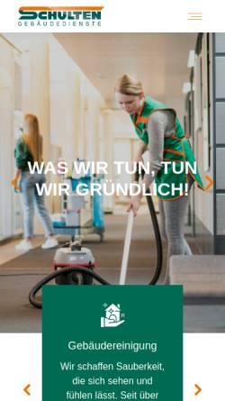Vorschau der mobilen Webseite www.schulten.de, Paul Schulten GmbH & Co. KG