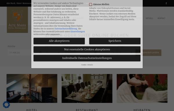 Vorschau von www.alte-mark.de, Alte Mark - Hotel & Restaurant