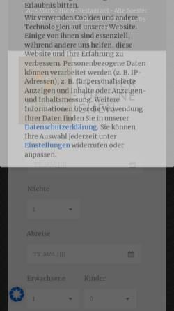Vorschau der mobilen Webseite www.alte-mark.de, Alte Mark - Hotel & Restaurant